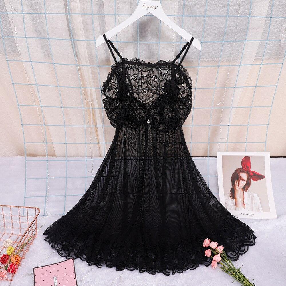 2020 New Style Sexy Lace Women Pyjamas Night Dress Female Lingerie Charming Sleepwear Nightwear Nightgown Transparents Nighty