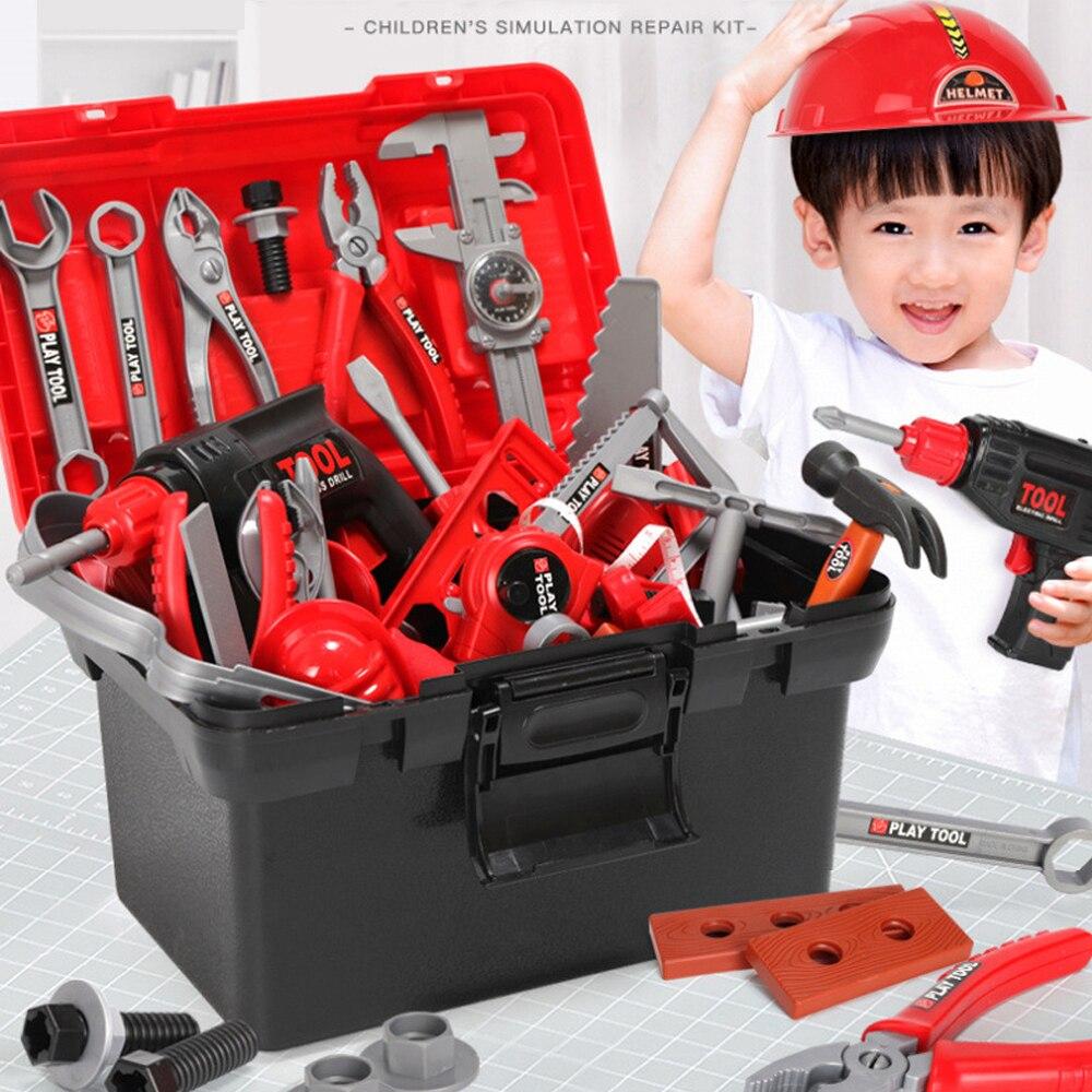 Детские игрушки, электрические дрели, набор инструментов, игрушки, набор инструментов, имитация дрели, отвертка, набор инструментов для рем...