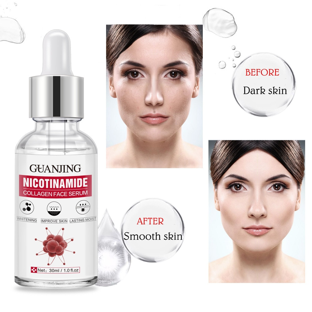 Nicotinamide Collagen Face Serum Remove Melanin Firming Skin Facail Serum Anti-Wrinkle Anti-Aging Whiten Skin Face Essence