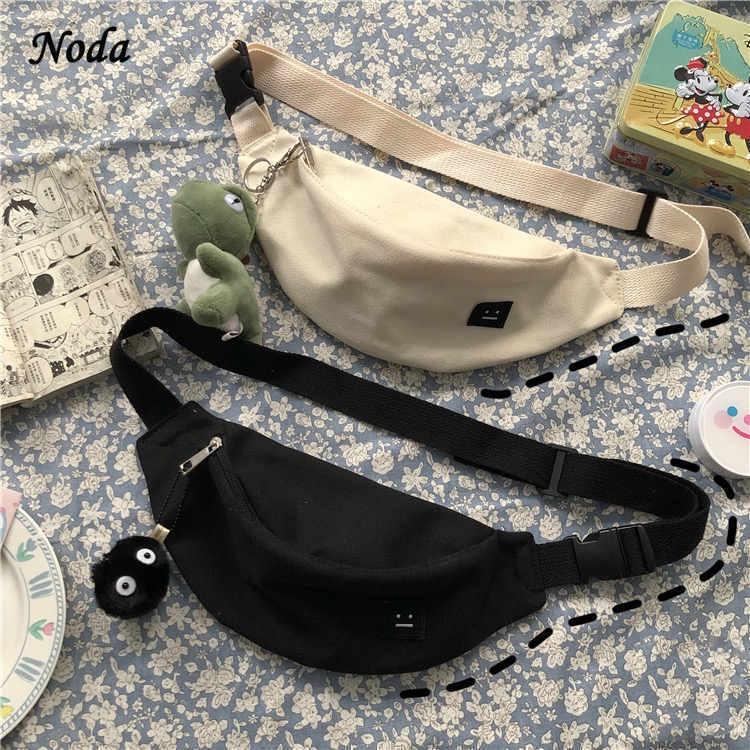 Забавные Женские поясные сумки, хлопковая холщовая Повседневная Дамская нагрудная Сумочка, спортивные холщовые Молодежные саквояжи