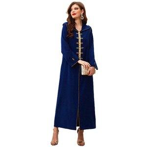 Abaya Dubai Kaftan Moroccan 2021 Caftan Marocain Muslim Dress Turkey Abayas For Women European Islam Clothing  Femme