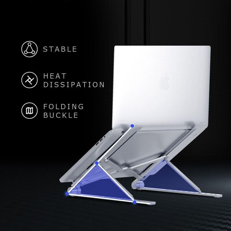Охлаждающая подставка для ноутбука Регулируемая Складная Алюминиевая настольная подставка для ноутбука настольная подставка для 7-15 дюймов Macbook Pro Air
