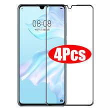 4PCS Full Cover Tempered Glass For Huawei P20 Pro P30 P40 lite Glass Screen Protector For Huawei Mate 20 30 40 P Smart Glass