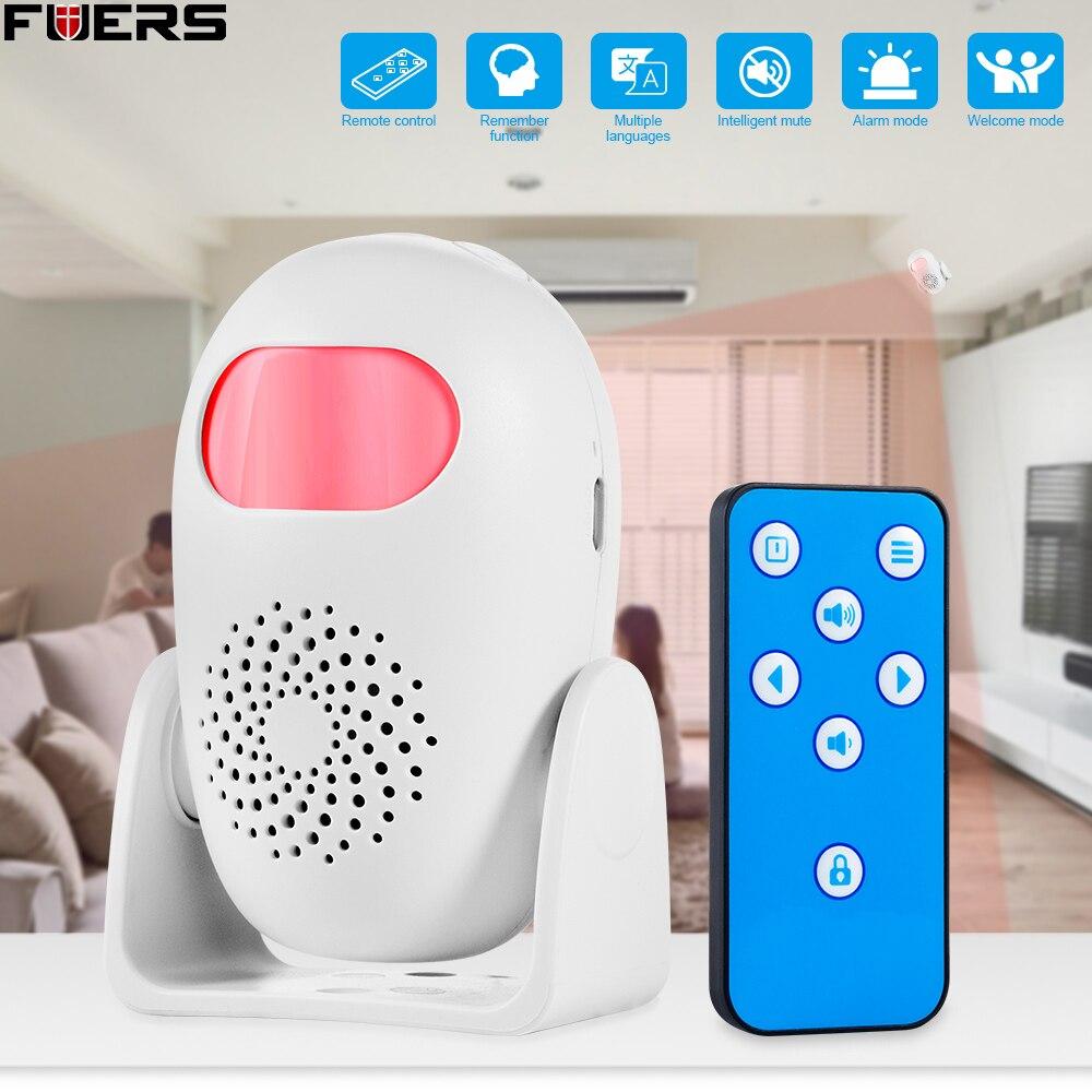 FUERS-Detector de cuerpo humano, timbre con Sensor de Movimiento, inducción electrónica, Dispositivo...