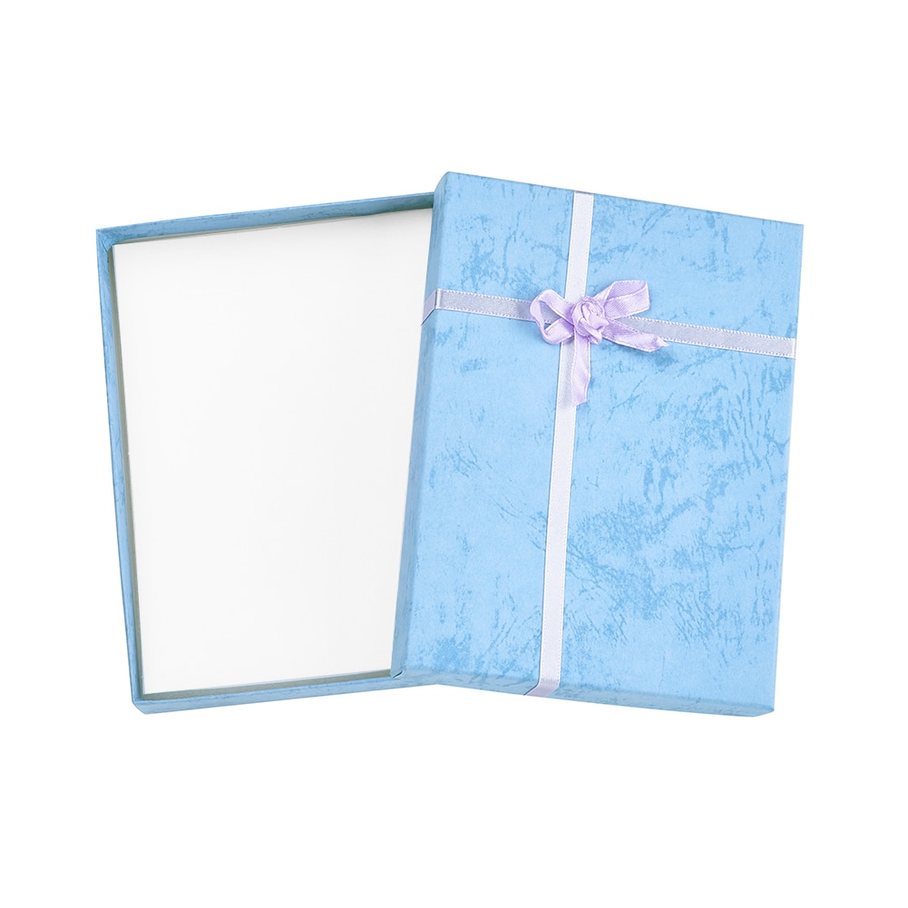 6 шт., картонные шкатулки для украшений Pandahall, для ожерелья, браслета, сережек, подарочная упаковка, атласная лента, губка, прямоугольная коро...