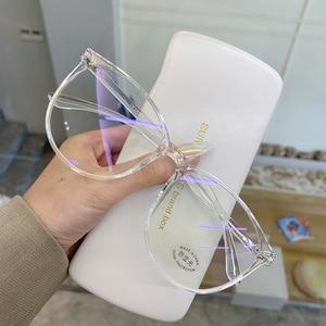 Прозрачный компьютерные очки Рамка Для женщин мужчин антибликовыми свойствами светильник круглые очки блокировка очки оптические оправы для очков