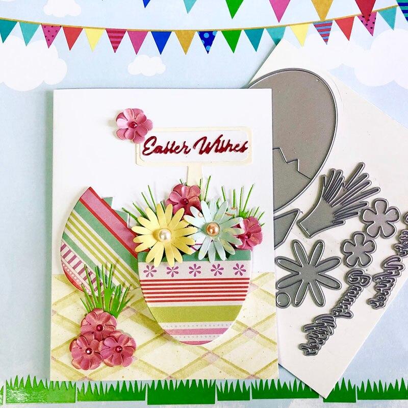 Troqueles de corte set de Pascua, álbum de recortes, Cardmaking, creación sorpresa, troqueles, plantilla DIY