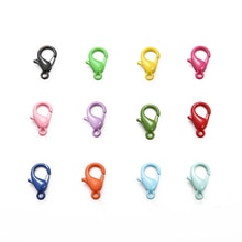 10PCS/Lot 7x12mm Color Painted Keyring Charms Buckle Lobster Lock DIY Chain Handmade Decoration Jewe
