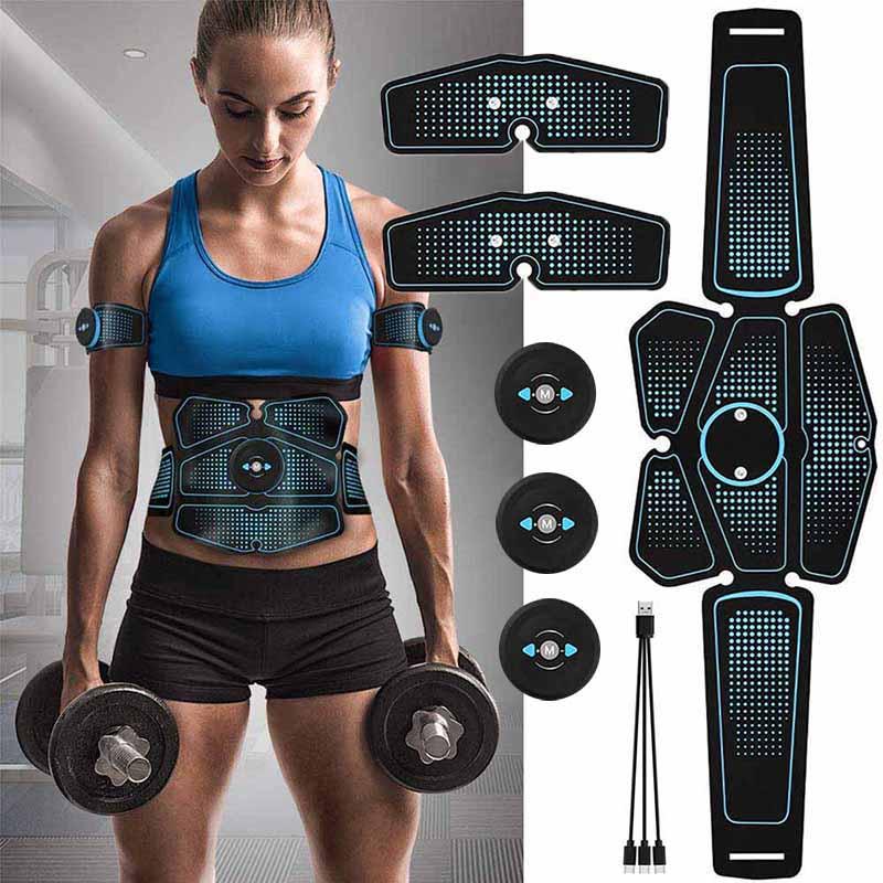 Estimulador muscular eléctrico electroestimulador Fitness Cuerpo Adelgazante máquina de quema de grasa Abdominal Ems entrenador ejercicio masaje