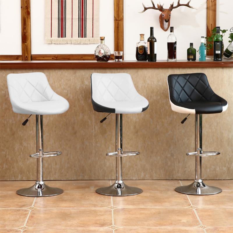 2 Pçs/set Cadeira Bar Moderno Moda Macio Cozinha Sala de estar Cadeiras Banquetas De Elevação Ajustável Com Apoio Para Os Pés Funiture HWC