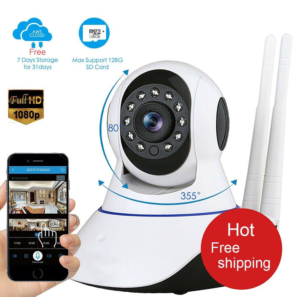 1080P HD домашняя IP камера безопасности WiFi Беспроводная камера наблюдения ИК Ночное Видение P2P детский монитор камера для питомца