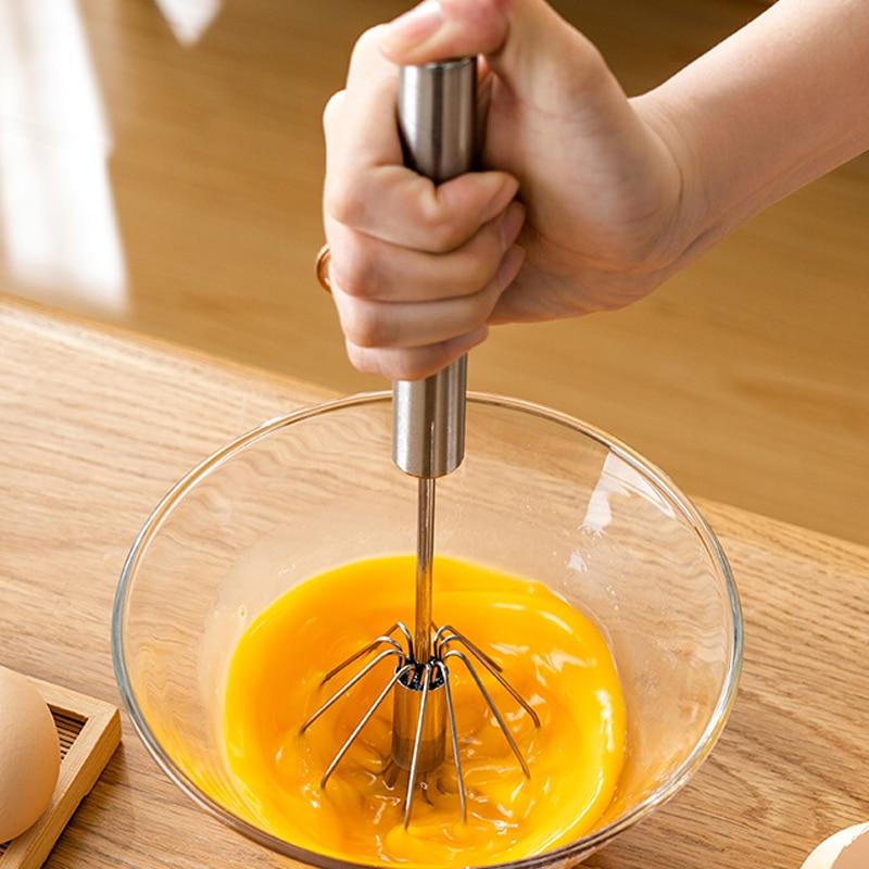 Licuadora semiautomática de café y bebidas lácteas, 1 unidad, batidor de huevos, espuma para el manejo de la licuadora, herramienta práctica de cocina