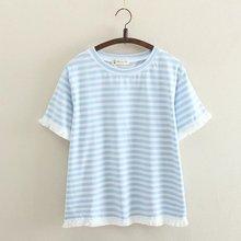 Imprimé femmes coton t-shirts 2018 été dames chemises décontractées à manches courtes femmes t-shirts