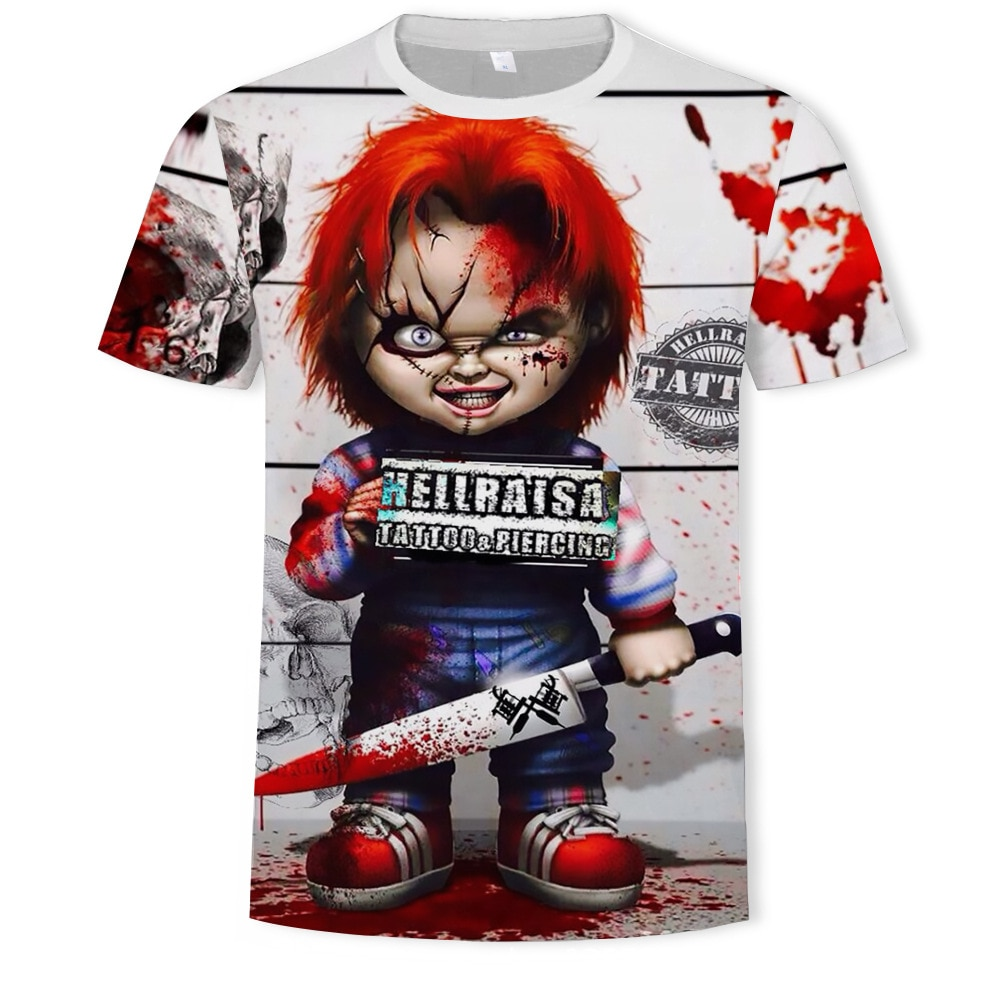 Хэллоуин рубашка друг ТВ шоу ужас персонаж футболка Женщины ужас персонаж друзья Белый Топ плюс размер печати