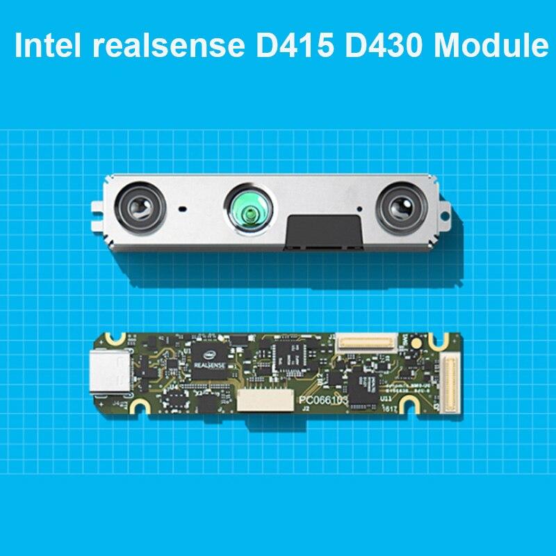 مجموعة وحدة Intel realsense D415 D430 لعمق الكاميرا ثلاثية الأبعاد مع USB ، Intel realsense D415 D430 ، روبوت تطوير AI