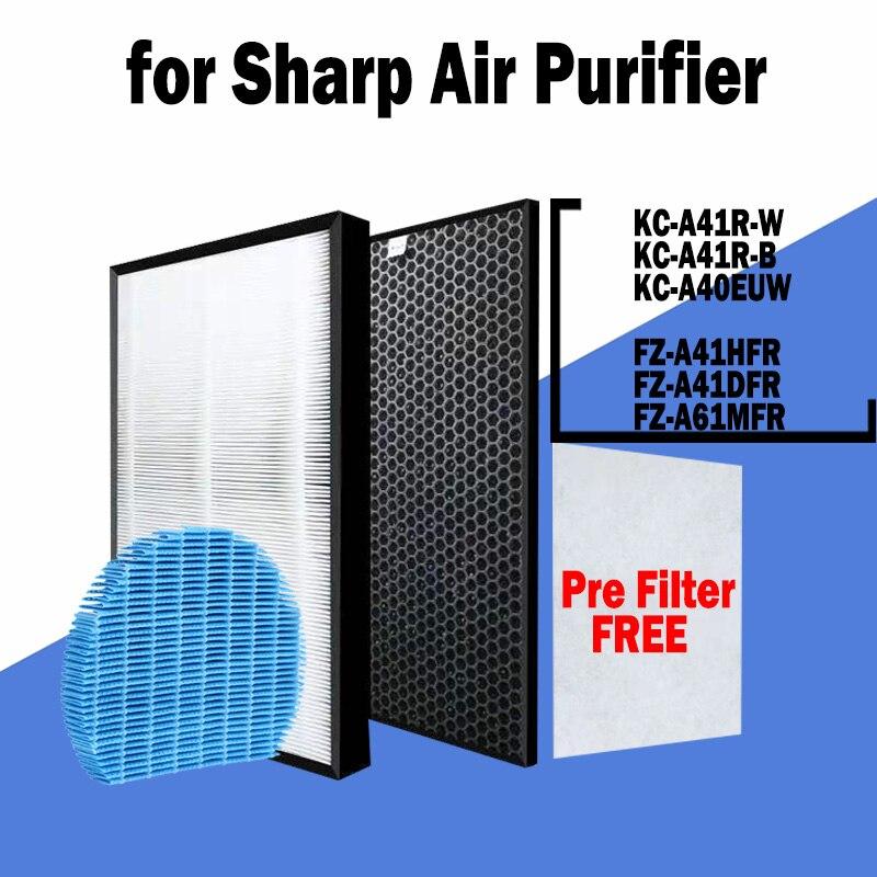 hepa фильтр sharp fz f30hfe для kc f31r HEPA Activated Carbon Filter FZ-A41HFR FZ-A41DFR and FZ-A61MFR Humidifier Filter for Sharp KC-A41R-W KC-A41R-B KC-A40EUW