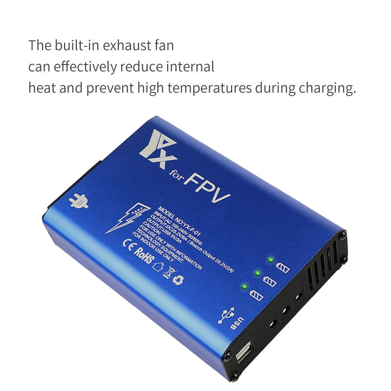 4 In 1 Parallel Power Hub Ntelligent Battery Controller Charger Drone Flight Battery Accessories For DJI FPV Drone SmartPhone enlarge