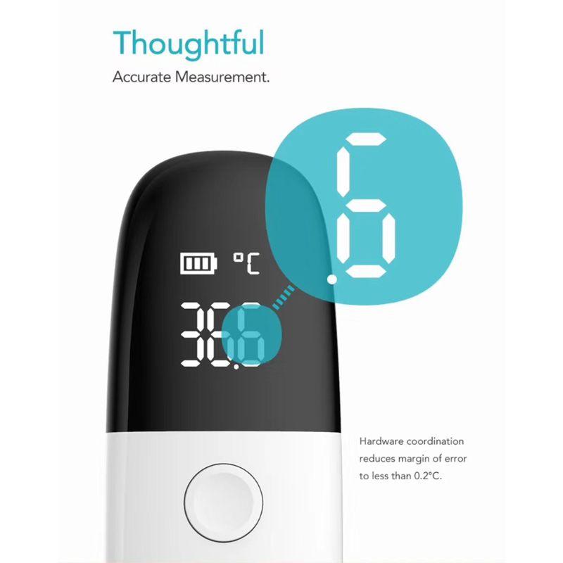 Iite h1 termômetro inteligente display led monitor de medição de temperatura tela n58c