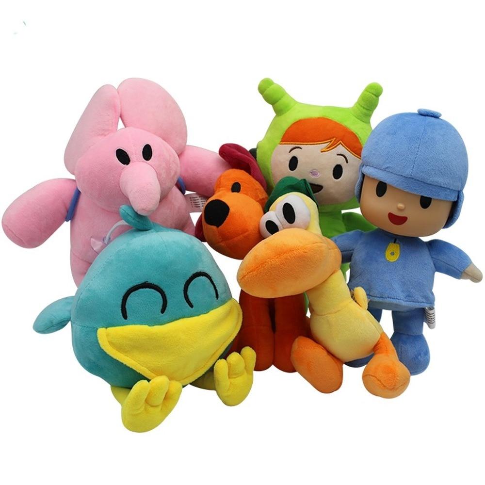 Pocoyo Stuffed Animal for Kids Soft Doll 16-30cm Bird Toy Duck Elephant Plush Soft Toys