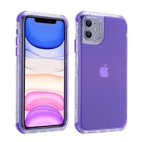 shockproof bumper candy color phone case for iphone 13 12 11 pro xs max xr x 12mini 7 8 plus se 2020 transparent soft back cover