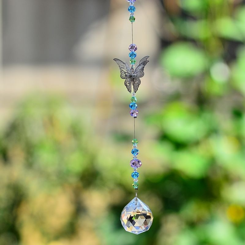 kainai suncatcher butterfly crystal suncatcher hanging rainbows home deco crystal ornament prisms rainbow charm car charm gift