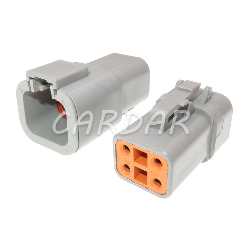1 Set 4 Pin DTP DTP06-4S DTP06-4P Waterproof Connector Wire Socket For Auto Cars
