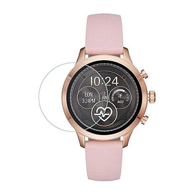 Película protectora de vidrio templado para Michael Kors acceso Runway 2018 reloj Smartwatch Protector de pantalla cubierta de protección