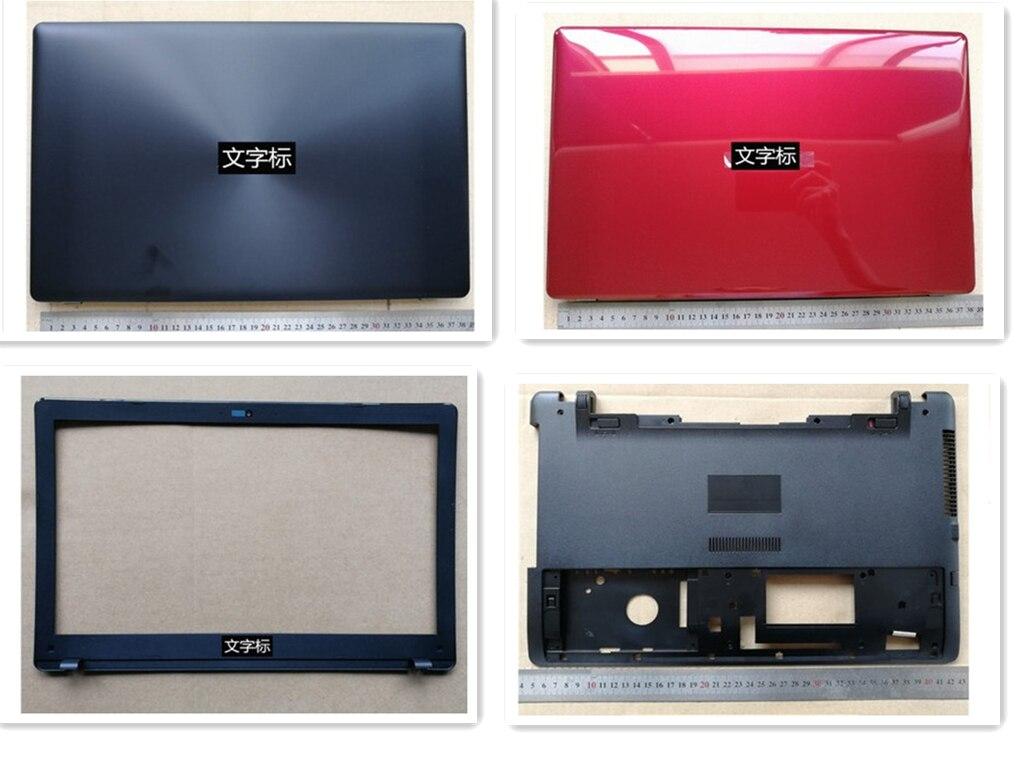 جديد محمول علوي قاعدة قاعدة lcd الغطاء الخلفي/lcd الجبهة الحافة إطار الشاشة/أسفل الحال بالنسبة لشركة آسوس X550 Y581C Y581L K550V R510V F550V
