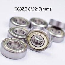 608ZZ 8*22*7(mm) 10pieces free shipping ABEC-5 bearings metal Sealed Miniature Mini Bearing  608 608Z  chrome steel bearings