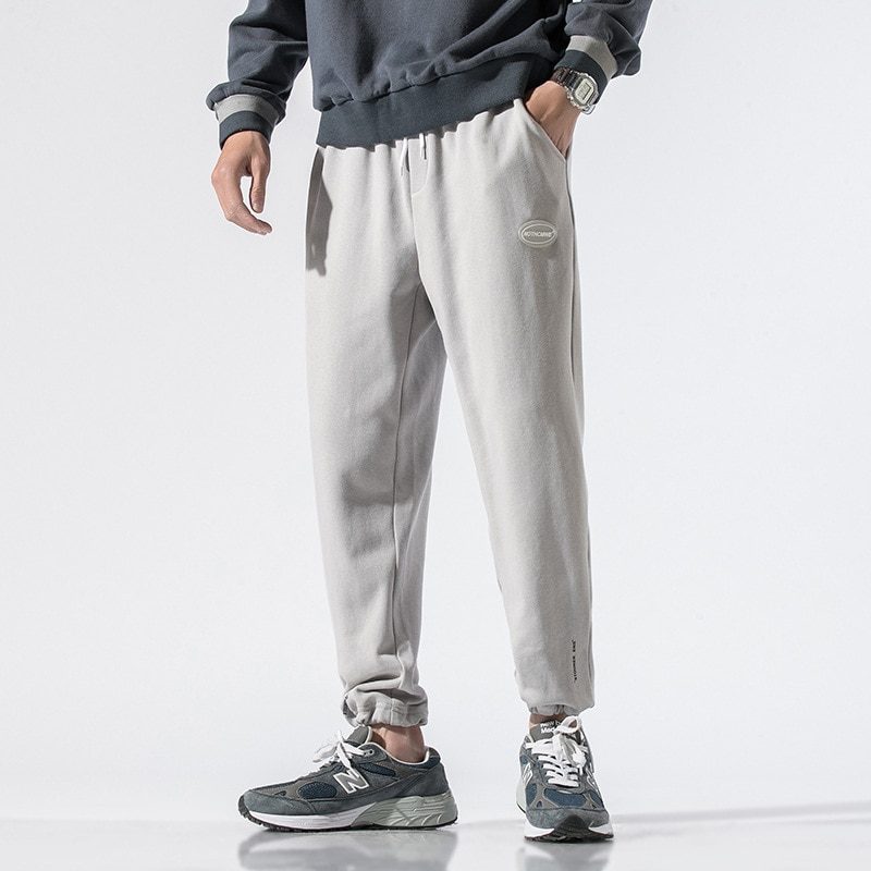 Брюки мужские тонкие повседневные, Молодежные универсальные свободные укороченные штаны, спортивные брюки в Корейском стиле, штаны для бег...