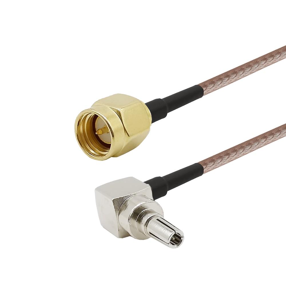 ALLiSHOP 0-6GHz sma męskie broszki wtyczki złącze do adaptera crc9 pigtail RG316 kabel do huawei PCI router wi-fi 3G Modem