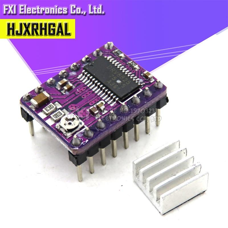Piezas de impresora 3D Step Stick DRV8825 controlador de Motor paso a paso con portador de disipador de calor Reprap 4 capas rampas PCB reemplazar controlador A4988