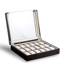6/12/18 Grids Black Watch Box Wood Sandalwood Grain Watch Case Storage Box for Men Watches Women Jew