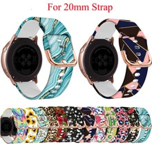 20mm Silicone Watchband for Samsung Galaxy Watch Active2 40mm/ Active 2 44mm/ Galaxy Watch 4 40 44mm