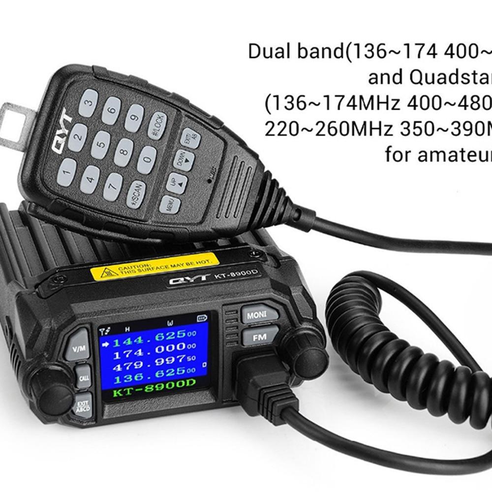 KT-8900D Dual Band VHF UHF Mini Mobile Radio Auto Radio FM Transceiver 25W VHF UHF BJ218 Vericle Auto Schinken radio Dual Band