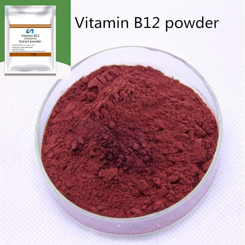 Hot selling top-level vitamin B12 powder (cobalamin), support energy metabolism and nervous system, fight fatty liver