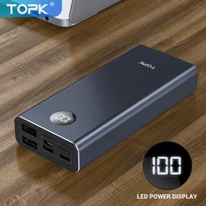 TOPK внешний аккумулятор 10000 мАч LED портативное зарядное устройство для Xiaomi Mi 9 8 Внешний аккумулятор повербанк для iPhone 11 8 Samsung
