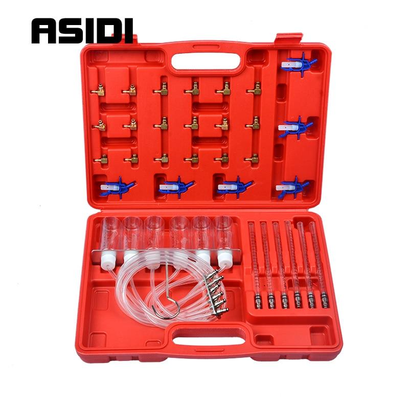 Novo kit de teste medidor fluxo injector diesel trilho comum adaptador testador combustível conjunto