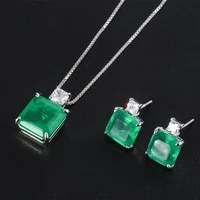 funmode new green cubic zircon rhinestone for wedding bridal party jewelry sets accessories wholesale fs259