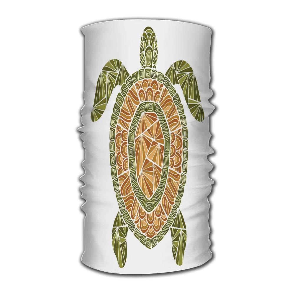 Bandana bandanas estilizado tartaruga estilo zentangle mar coleção multifuncional headwear, 4019 maneiras de usar seu chapéu mágico
