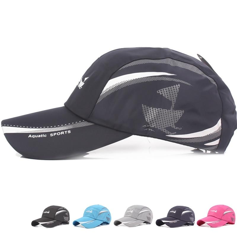 Gorras transpirables de secado rápido, a prueba de agua, para hombre, deporte, lengua de pato, sombrero para el sol, gorra de béisbol espacial al aire libre, envío directo