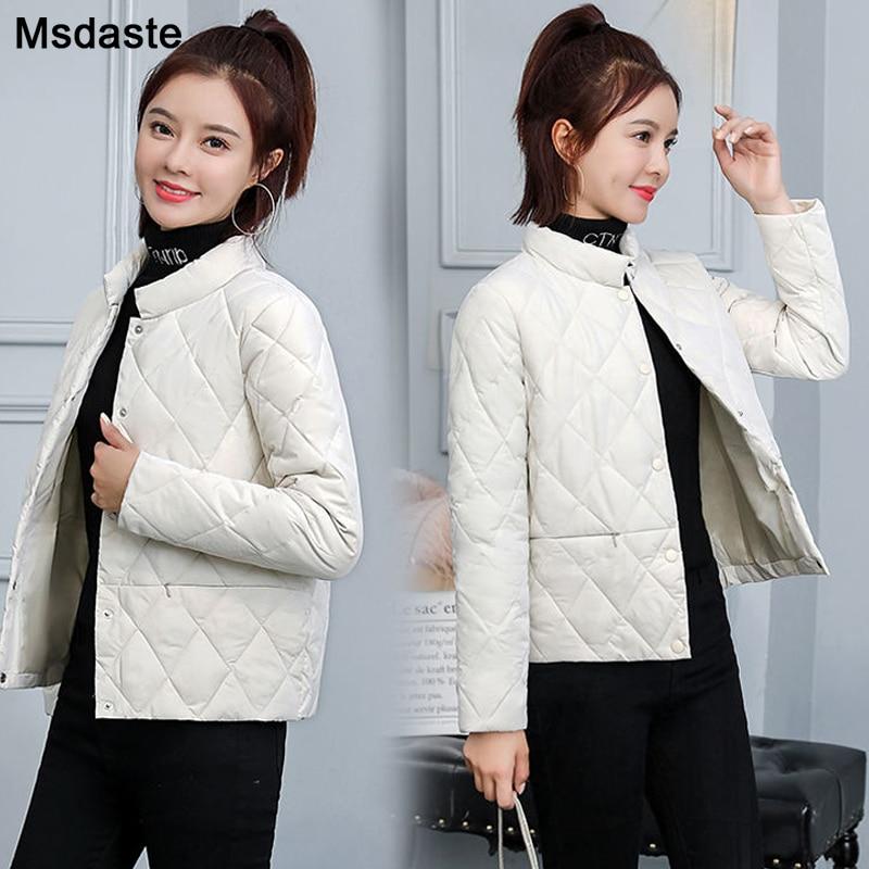Женские парки зимние женские повседневные короткие пальто M ~ 3XL, базовые женские куртки с длинным рукавом, женская верхняя одежда