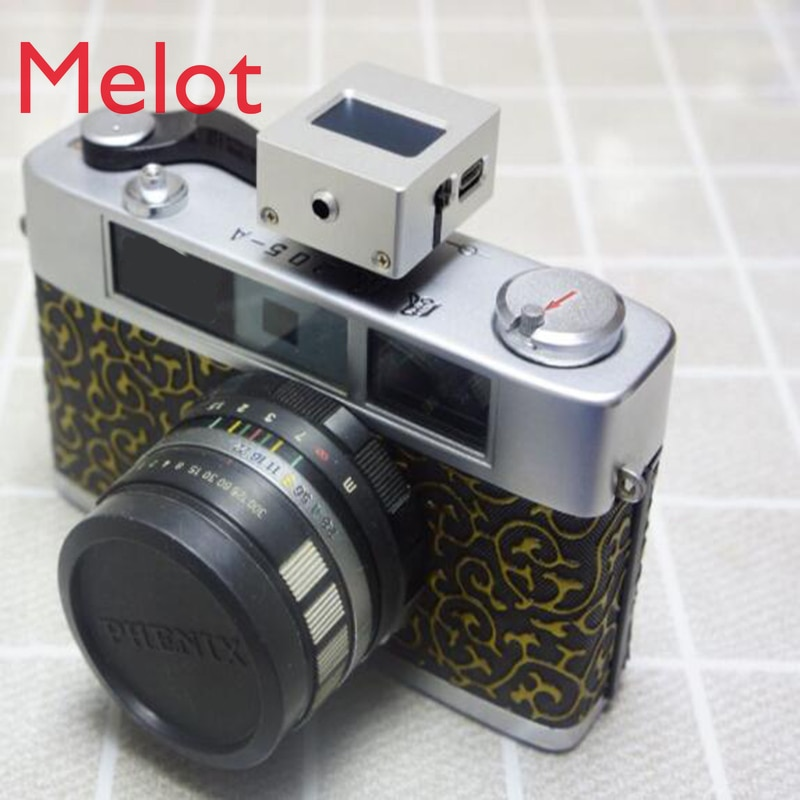 Metal V-201X Photography Set-top Reflection Light Meter Hot and Cold Shoe Fix Take Pictures Mini Camera Luminometer enlarge