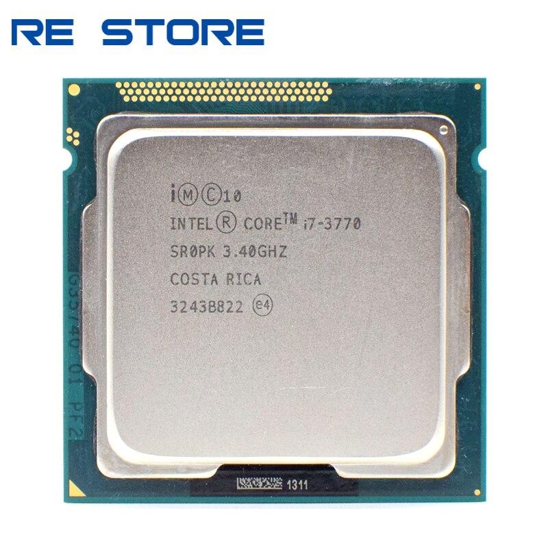 Se Intel Core i7 3770 3,4 GHz 8M 5 0GT/s LGA 1155 SR0PK CPU escritorio procesador