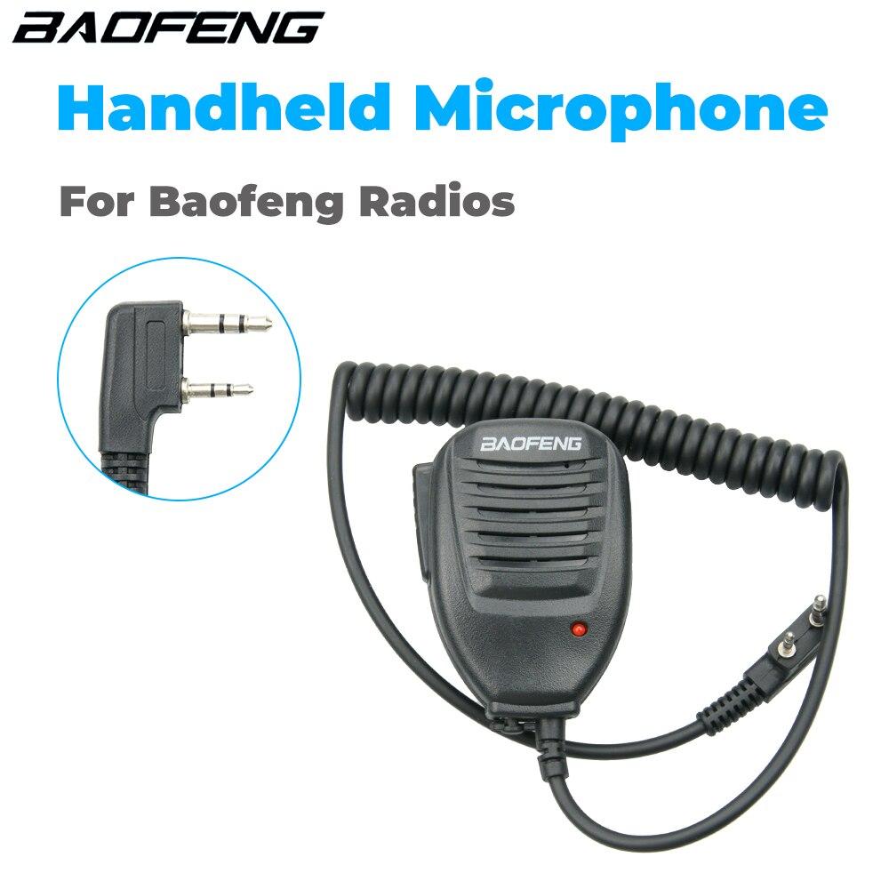 Оригинальная портативная рация Baofeng 888S с микрофоном, портативный ручной микрофон PTT для Baofeng