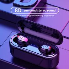 F9 Tws Bluetooth Oortelefoon Business Muziek Draadloze Hoofdtelefoon 8D Hifi In-Ear Sport Headset Ondersteuning Touch Hd Oproep Voor Smart Telefoon