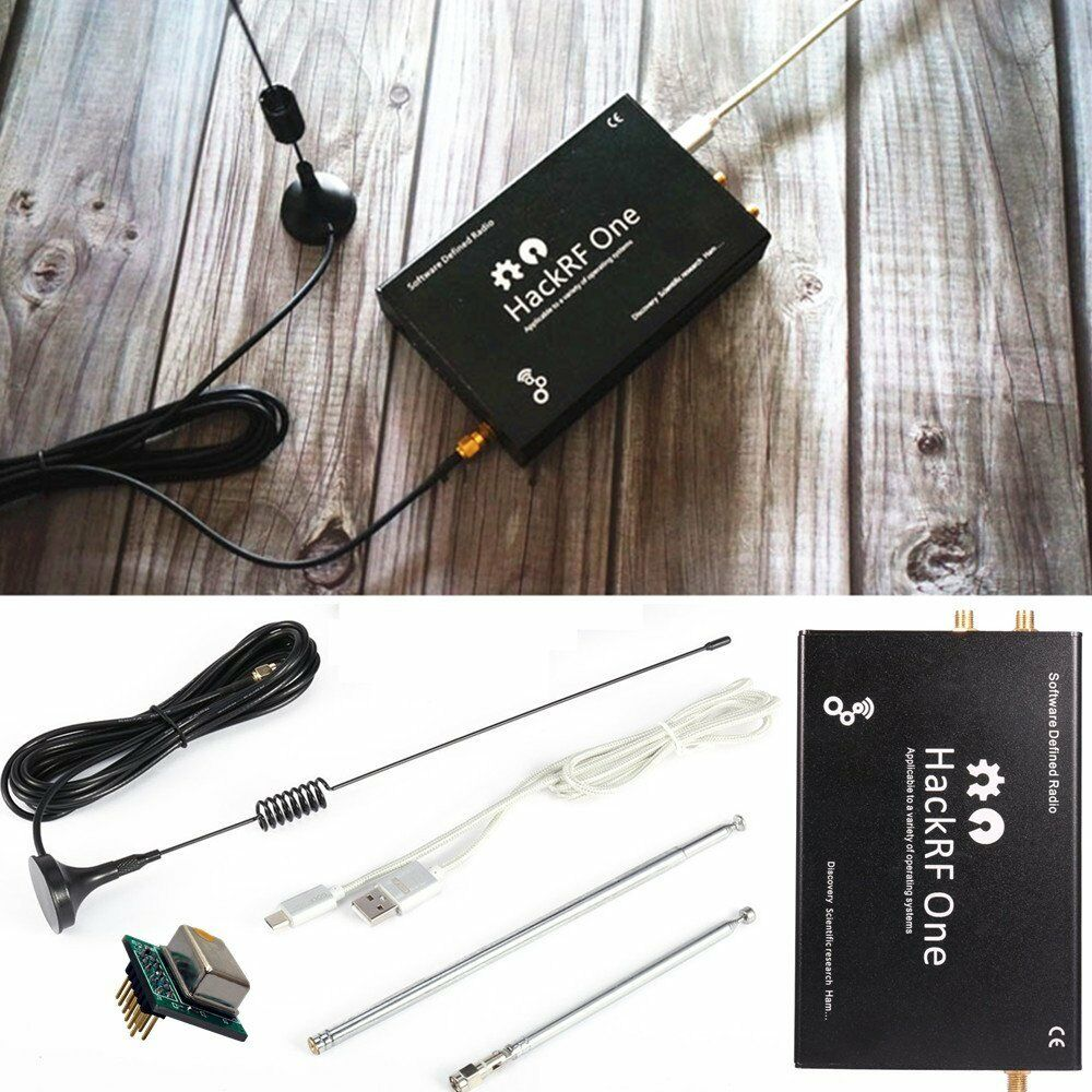 HackRF One-منصة usb ، راديو محدد بالبرمجيات من 1 ميجاهرتز إلى 6 جيجاهرتز ، لوحة تجريبية ، علبة معدنية ، هوائي ، SDR