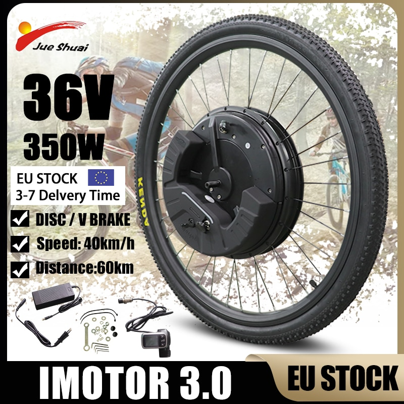 EU Stock iMotor 3.0 Electric Bicycle Conversion Kit 36V 350W Bleutooth Ebike 40KM/H Max Speed Electric Bike Conversion Kit
