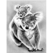 Animal Diamond Painting 5D DIY Full Drill Mother Love Koala Diamond Embroidery Diamond Mosaic Art Home Room Decor.