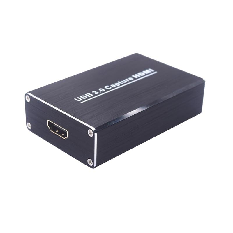 1080p 60fps completo hd gravador de vídeo hdmi para usb 3.0 dispositivo de placa de captura de vídeo para windows mac linux telefone jogo pc ao vivo